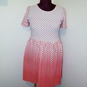 LuLaRoe plus size amelia dress